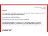 Bild: So sieht die angebliche Vodafone-Rechnung aus.