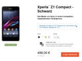 Bild: Sony wirbt mit speziellen Angeboten um Käufer für das Mini-Smartphone Xperia Z1 Compact.