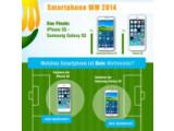 Bild: Spannung beim Gewinnspiel: Wird es ein KOpf-an-Kopf-Rennen zwischen dem iPhone 5s und dem Galaxy S5?
