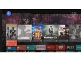 Bild: Der Startbildschirm legt sich bei Android TV einfach über das Programm.