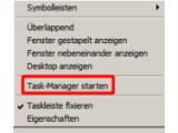 Bild: Starten Sie den Taskmanager.