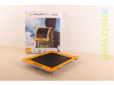 Bild: SunnyBag Leaf ist eine der derzeit leichtesten Solarzellen für unterwegs.