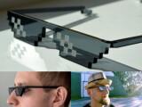 Bild: Trotz Pixel-Optik sollten Träger dieser Sonnenbrille klare Sicht haben.