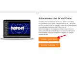 Bild: Über die Webseite von Zattoo den Live-Stream starten.