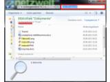 Bild: Über den Windows Explorer nach Dateinamen oder Inhalten suchen.