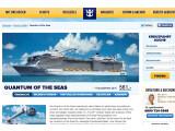 """Bild: Voll gestopft mit Hightech: Im November soll die """"Quantum of the Seas"""" ihre Jungfernfahrt antreten. Der Screenshot zeigt die Webseite von Royal Caribbean International."""