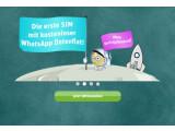 Bild: Mit der WhatsApp-SIM kann der Messenger auch ohne Guthaben genutzt werden.