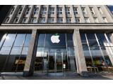 Bild: An zahlreichen Apple-Stores findet sich das leicht modifizierte Logo zum heutigen Earth Day.
