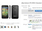 Bild: Das ZTE Open C ist ab dem 9. Mai bei eBay erhältlich.