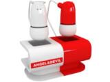 Bild: Engel und Teufel flüstern dem Kopfhörer-Träger ständig ins Ohr.
