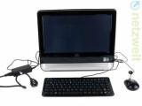 Bild: Günstiger All-in-One-PC mit Technik aus der Welt der Netbooks: Asus Eee Top. Die kleine Maus und die kleine Tastatur gehören zum Lieferumfang.