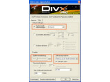Bild: Die optimalen Einstellungen für interlaced Material beim DivX-Encoder.