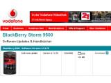 Bild: Das Software-Update für das Blackberry Storm kann über den Vodafone-Support heruntergeladen werden.