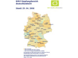 Bild: Verbreitung von DVB-T in Deutschland, Stand: 29.04.2008
