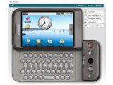 Bild: Testen im Browser: Das Google-Handy G1.