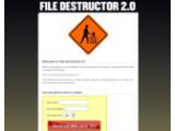 Bild: Mit dem File Destructor sind Dateien im Handumdrehen zerstört.
