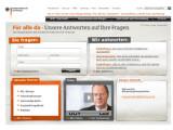 Bild: Auf www.fuer-alle-da.de kann jede Bürger und jede Bürgerin seine oder ihre Fragen zu finanzpolitischen Themen stellen.