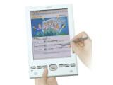Bild: Mit seinem farbigen Touchscreen eignet sich das Flepia von Fujitsu nicht nur zum Lesen von E-Books.