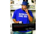 Bild: Werbemotiv der GEZ: Der Rapper Samy Deluxe hat keine Probleme mit der GEZ.(Quelle GEZ, Klick vergrößert.)