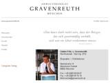 Bild: Screenshot der Homepage des Rechtsanwalts Gravenreuth.