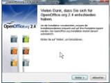 Bild: OpenOffice 2.4 belegt nach erfolgreicher Installation 336 Megbyte auf der Festplatte.