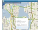 Bild: Microsoft Live Search Maps mit Baustellen-Warnung.