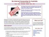 Bild: Gegen die australische Firewall: NoCleanFeed.