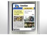 Bild: Praktisch: Die Nokia-Software Lifeblog ordnet die Einträge automatisch chronologisch.