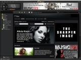 Bild: Erster Blick: Die Musik-Tauschbörse Qtrax.(Klick vergrößert)