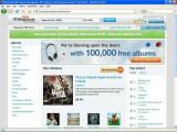 Bild: Wirkt aufgeräumt: Rhapsody MP3 Store(Klick vergrößert)