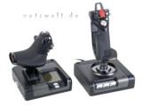 Bild: Der X52 Pro bietet weit mehr als futuristischesDesign und bunt beleuchtete Schalter.