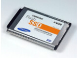 Bild: Solid-State-Disc mit 64 Gigabyte im 1,8-Zoll-Format von Samsung. Die NAND-Technik soll bessere Leistung bringen.