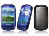 Bild: Ein Öko-Handy von Samsung: Blue Earth mit Solarzelle auf dem Rücken.