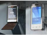 Bild: Neue Samsung-Modelle: P720 links und das F490 rechts. Quelle: Mobile Notes