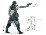 Bild: Konzeptzeichnung des neuen Terraner-Charakters Jim Raynor.