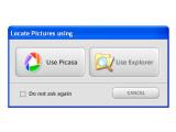 Bild: Hello arbeitet natürlich Hand in Hand mit Picasa, der kostenlosen Bildverwaltungssoftware von Google und nutzt Picasas Hilfe bei der Bildauswahl. Wer beide Programme installiert hat, kann in Picasa Bilder direkt per Hello an Freunde weitergeben.
