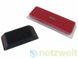Bild: Zwei Slingboxen für Fernseh-Streaming: Links die schwarze Slingbox Solo, rechts die rote Slingbox Pro.