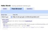 Bild: Der Mashup Editor läuft im Browser.