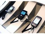 Bild: Der BlackBerry 8110 und das VPA GPS am Vodafone-Stand auf der CeBIT 2008.