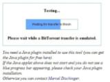Bild: In wenigen Minuten fertig: BitTorrent-Test per Webtool.