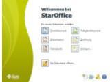 Bild: Jetzt mit Willkommensbildschirm: StarOffice.