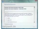 Bild: Windows 7 M1: In den Lizenzbestimmungen als Pre-Release bezeichnet.