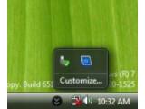 Bild: Windows 7: Anscheinend neue Funktionen im System Tray.