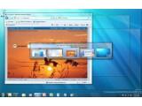 Bild: Das Alt+Tab-Fenster zum Durchschalten der laufenden Programme wird nach kurzer Inaktivität durchsichtig.