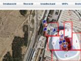 Bild: Die rote Umrandung kennzeichnet das bereits gekaufte Land.