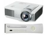 Bild: Den Beamer MP512ST von BenQ und die Xbox 360 von Microsoft gibt es im Paket zu Weihnachten für 629 Euro.