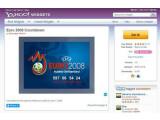 Bild: Sekundengenau: Das Yahoo-Widget EM Countdown zeigt die verbleibende Zeit bis zum Eröffnungsspiel an.