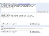 Bild: Google benutzt die gleiche Übersetzungs-Routine wie Babelfish.