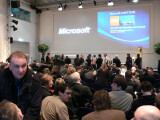 Bild: Pressekonferenz auf der CeBIT 2008