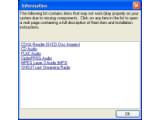 Bild: Beim ersten Start blendet der Zoom Player eine Liste mit fehlenden Filtern ein: Mit einem Mausklick auf die Links können Nutzer die Software herunterladen.